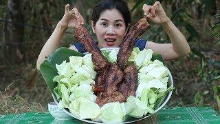 Grilled Pork Belly With Tamarind Sauce Recipe | Cooking Pork Delicious  | Khmer Food TV