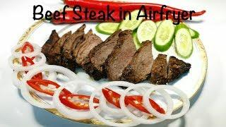 Beef Steak in Airfryer || Easy Beef Steak Recipe || Beef Steak with steak sauce