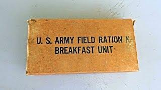 1943 US K Ration Breakfast Unit 1942 - 76 Year MRE (Meal Ready To Eat)