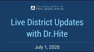 Live District Updates with Dr.Hite | Update 14 | July 1, 2020