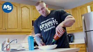 What Pro Bodybuilders Eat for Breakfast | Iain Valliere Shares His Meal 1