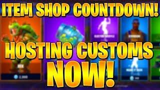 FORTNITE ITEM SHOP COUNTDOWN! // *PLAYING WITH SUBS* + NEW PEELY SKIN! (FORTNITE BATTLE ROYALE)