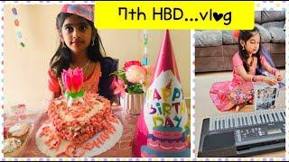 My daughter's epic birthday celebration/ how to make yummy vanilla colorful cake..