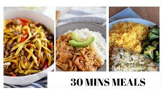 3 Easy 30 minute meals | What's for Dinner