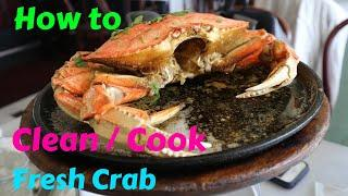 How to Clean/Cook Live Fresh Crab.Crab Recipe Chinese.Limpiar Cangrejo Fresco Vivo, Receta Cangrejo