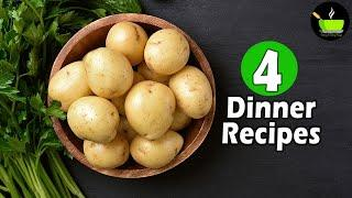 4 Lockdown Recipes  | 4 Easy Dinner Recipes | Indian Dinner Plan | Dinner Ideas | Restaurant Style