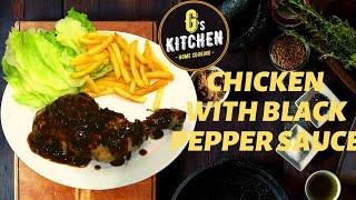 CHICKEN WITH BLACK PEPPER SAUCE | ENGLISH DINNER RECIPE