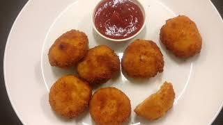 Very Easy Chicken Nuggets Recipe|Minced Chicken Fried Balls| Quick Party Snacks Recipe|Fried Chicken