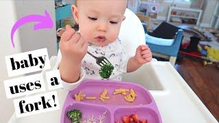BABY LEARNS TO USE A FORK! (+ waytoplay giveaway!)