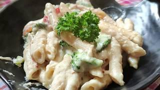 How to make white  sauce pasta - Alfredo sauce pasta | Easy white sauce pasta recipe | Cheesy pasta