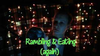 ASMR Rambling and Eating crunchy food ~ Whispering and Mouth Sounds