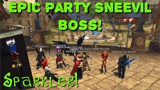 AQ3D Epic Party Sneevil Boss! All Drops! Sparkler Weapon!