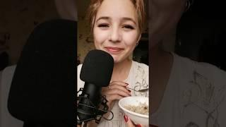ASMR EATING PORRIDGE/healthy food/mouth sounds/асмр итинг/еда/звуки рта