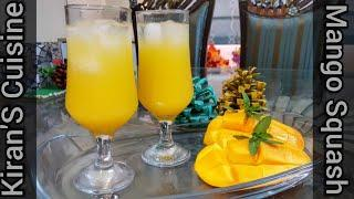 Perfect Mango Squash Recipe _ Homemade Mango Squash _ Kiran'S Cuisine