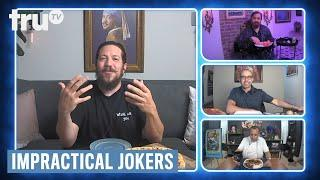 Impractical Jokers: Dinner Party - Sal Was the Weirdest Pizza Delivery Guy (Clip) | truTV