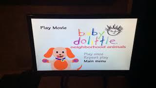 Baby Einstein neighborhood animals 2002 dvd menu Walkthrough