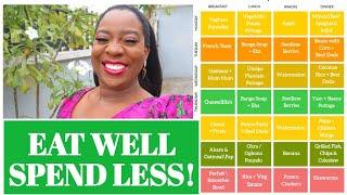 NIGERIAN FOOD TIME TABLE FOR FAMILY OF 5 + MEAL PLANNING TIPS