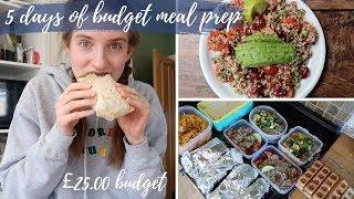 5 days of meal prep (£25 edition)