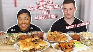 MAKING A FULL FEAST OF APPETIZERS | MUKBANG + RECIPE