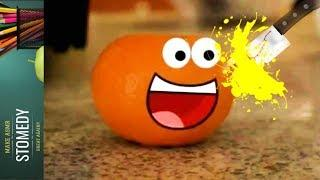 ANNOYING ORANGE for LUNCH !! Relaxing Sounds ! (no talking) Satisfying Eating Sounds #18