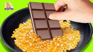 Trying FOOD from 30 SIMPLY DELICIOUS DESSERT 5-Minute Crafts Video - FOOD LIFE HACKS Challenge