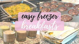 4 Easy Breakfast Freezer Meals | Meal Prep with me! | This and Nat