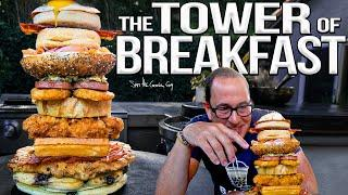 The Tower of Breakfast (Epic Game of Food Jenga!) | SAM THE COOKING GUY 4K