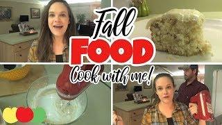 COOK WITH ME! | APPLE SHEET CAKE | Fall Food Friday!