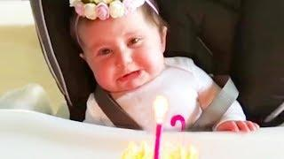 Funny Baby Blowing Candles Fail - Funny Fails Baby Video