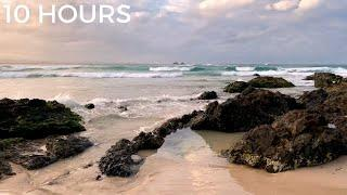 Ocean Waves Lapping on Sand & Rocks at the Beach | Nature Sea Sounds for Sleeping Deeply & Insomnia