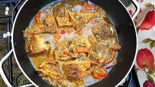 Bangamary Fish Curry, step by step Video Recipe