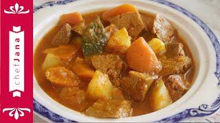 THE VEGAN VERSION OF MY GRANDMA'S SUNDAY BEEF AND POTATOES STEW! A DELICIOUS COMFORT FOOD MADE EASY!