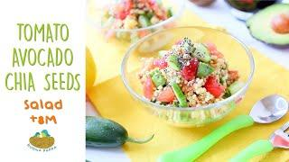 Millet Tomato Avocado Chia Salad +8M baby food recipe