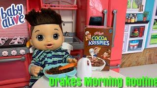Baby Alive Morning Routine Packing Drakes Lunch