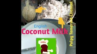 How to make coconut milk? In English  #pulpytamarindchannel