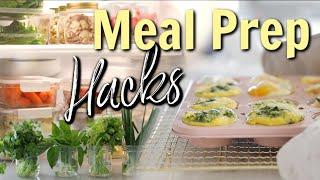 Meal Prep HACKS For Quick & Healthy Meals! MissLizHeart