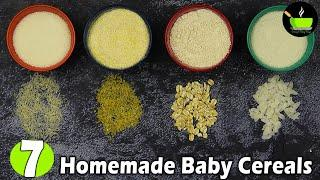 7 Homemade Baby Cereal For 6 Months Old | Stage 1 Baby Cereal | Instant Homemade Baby Cerelac