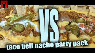 Taco Bell Nacho Party Pack Challenge - Cult Moo VS