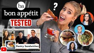I Tried Making BON APPETIT'S PANTRY SANDWICHES from the TEST KITCHEN... what's worth making??