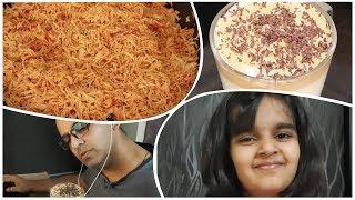 Less Ingredient Cooking | Simple Dinner | Tomato Rice with Onion Raita | Dalgona Coffee | ColdCoffee