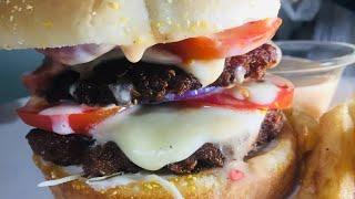 Beef Burger Recipe | McDonald's Style Beef burger | Spicy Beef Burger Recipe | best hamburger