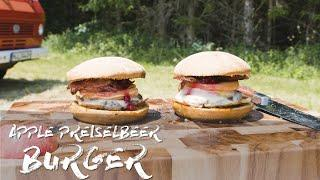 Cooking out of the Van - Apple Preiselbeer Burger (in 10 Minutes) - Louis Cook Show