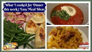 Dinners for the week & Some Meal Prep | Easy Dinner Ideas