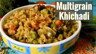 Multigrain Khichadi | Healthy Lunch / Dinner idea | Quick Easy One Pot Recipe for Weight Loss