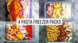4 One Pot Pasta FREEZER PACKS | Meal Prep * One Pot * Easy Dinners