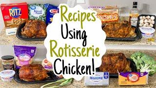5 AMAZING Recipes Using ROTISSERIE CHICKEN | The FASTEST Easy Chicken Dinner Ideas | Julia Pacheco