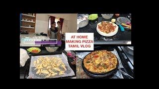 WEEKEND VLOG TAMIL | MAKING PIZZA AT HOME | DINNER VLOG TAMIL |