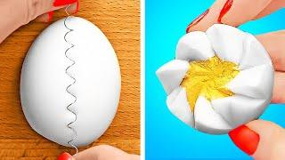 COOL EGG HACKS || VALUABLE HOME HACKS FOR ALL OCCASIONS