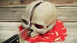 Stop Motion Cooking - Prawn Coconut Curry From Scary Thing ASMR 4K