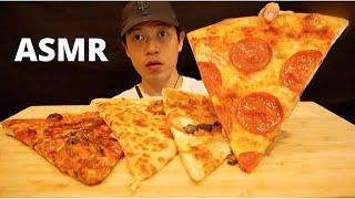FOUR LARGE SLICES PIZZA WHOLE FOODS  MUKBANG **ASMR** EATING SOUNDS